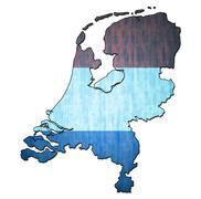 Netherlands territory with flag Stock Illustration