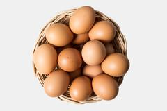 Eggs in basket - stock photo