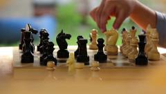Chess game, attack, beating the figures Stock Footage