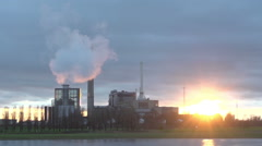 COMPILATION! Factory lake during the sun set - stock footage