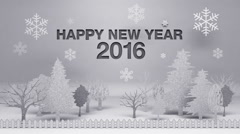 'Happy new year 2016' made from paper works (included alpha) Stock Footage