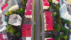 Gomel, Belarus - September 10, 2015: Cityscape And Architecture. View from above Stock Footage