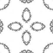 Luxury elegant ornamental silver frame as seamless background - stock illustration