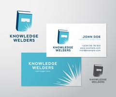 Knowledge Welders Education Abstract Vector Logo and Business Card Template or - stock illustration