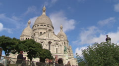 Basilica of Sacré Coeur in Paris Stock Footage