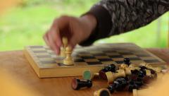 alignment of chess on the chessboard - stock footage