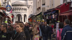 Paris street scene touristic area Stock Footage