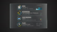 Information technology panel 'Food' interface digital display application - stock footage