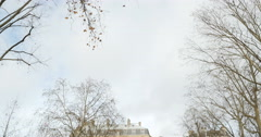 Tilt-down to Fluctuat Nec Mergitur in Place de la Republique, Paris Stock Footage