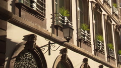 Strassbourg house facade with nice shadows Stock Footage