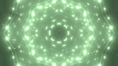VJ Fractal green kaleidoscopic background. - stock footage