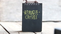 Stock Video Footage of The words Refugee crisis