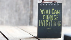 You Can Change Everything idea Stock Footage