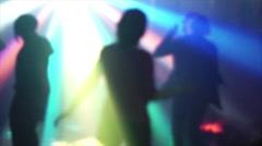Girl Dancing in Lights Stock Footage
