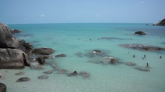 Coral beach panorama in Samui Island, Thailand Stock Footage