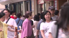 Hong-Kong chinese people - stock footage