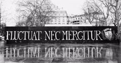 Fluctuat Nec Mergitur in Place de la Republique, Paris - stock footage