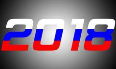 2018 Year.Russia - stock illustration