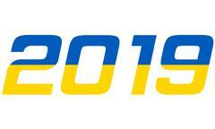 2019 Year.Ukraine - stock illustration