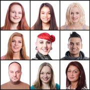 Women and men ranging from 18 to 45 years Stock Photos
