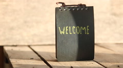 Welcome hand lettering Stock Footage