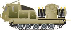Missile Launching Vehicle Stock Illustration