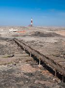 Diaz point lighthouse near Luderitz - stock photo