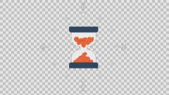 BUSINESS_1 - colored animation flat computer generated icons clips alpha - stock footage