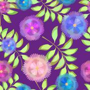 Abstract Elegance Seamless pattern  floral background - stock illustration