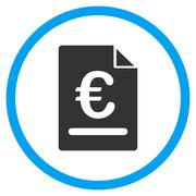 Euro Invoice Circled Icon Stock Illustration