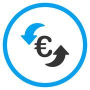 Refresh Euro Circled Icon - stock illustration