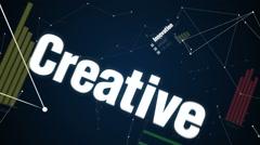 Innovation, Creative , Teamwork, Leadership, Challenge, Text 'DEVELOPMENT' - stock footage
