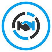 Handshake Diagram Rounded Icon Stock Illustration