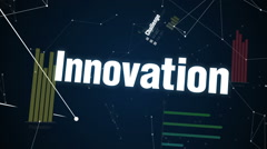 Challenge, Innovation Opportunity, Improvement, Success, Text 'CREATIVE' - stock footage