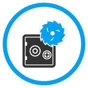 Hacking Theft Rounded Icon - stock illustration