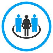 Society Rounded Icon Stock Illustration