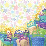Stock Illustration of Holiday gift boxes, background