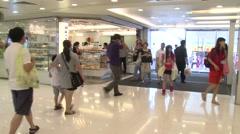 Hong-Kong shopping mall - stock footage