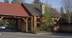 Lodge near Grants Pass, Oregon - stock footage