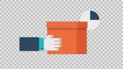 DELIVERY 2- colored animation flat computer generated icons clips alpha - stock footage