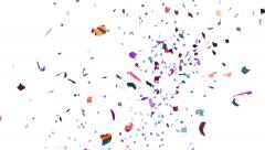 Colorful Confetti Video Background - Slow Motion Stock Footage