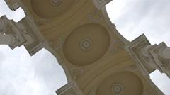 Decorated ceiling of Gloriette, Schönbrunn Palace, Vienna - stock footage