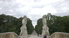Beautiful statues at the Gloriette, Schönbrunn Palace, Vienna Stock Footage