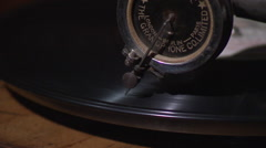 Vintage turntable playing (close up) - stock footage