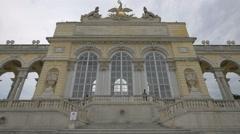 The Gloriette monument, Schönbrunn Palace, Vienna Stock Footage