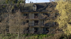 Motel balconies in Grants Pass Oregon - stock footage