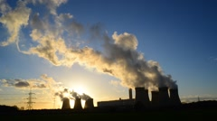 Time lapse time lapse giant cooling towers drax power station united kingdom Stock Footage