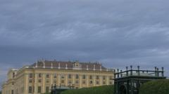Garden pavilions next to Schönbrunn Palace, Vienna Stock Footage