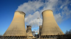 Giant cooling towers drax power station uk Stock Footage