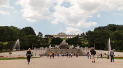 Low-angle time lapse of the Gloriette in Vienna Stock Footage